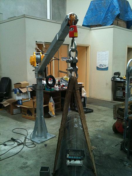 Jib Crane Testing : Jib crane sales manufacture inatallation and service